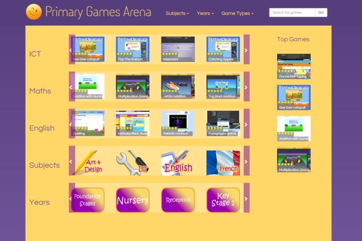 Primary Games Area